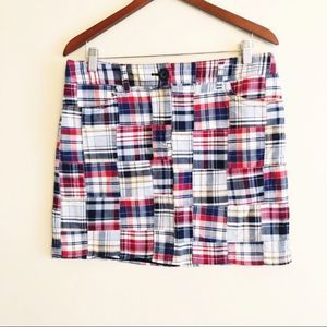 Ann Taylor LOFT | plaid mini skirt size 10